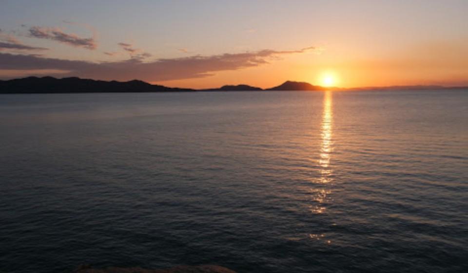 島の夕焼け1