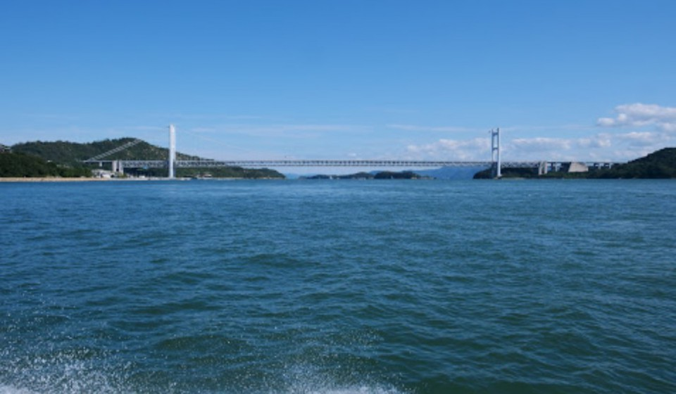 船から沖合の景色