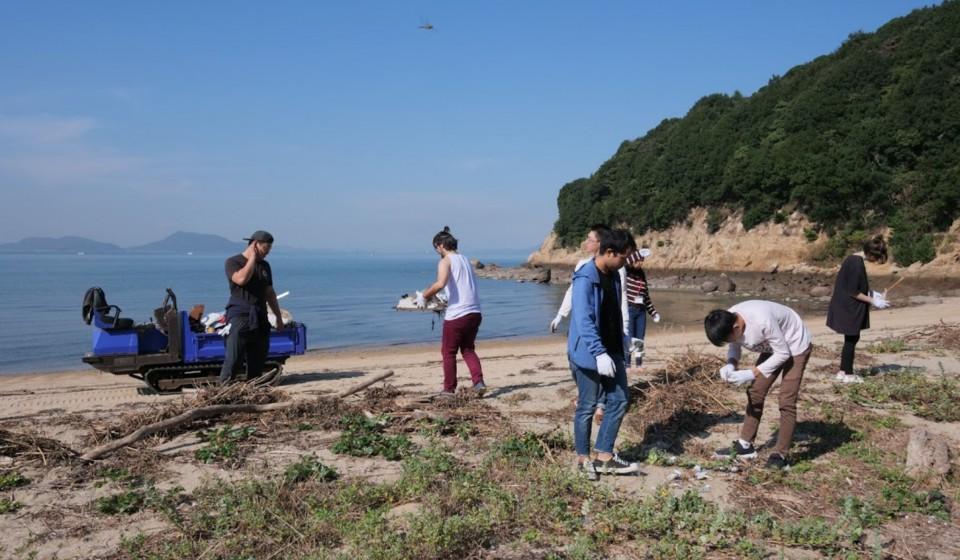 島の掃除2