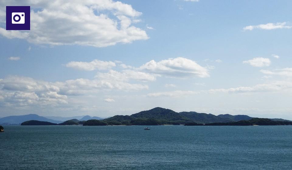 【写真スポット】神社境内の南側より瀬戸大橋